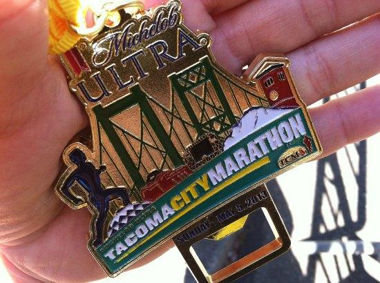 tacoma city marathon medal