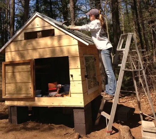 Heather S Chicken Coop Made From Recycled Wood Pallets