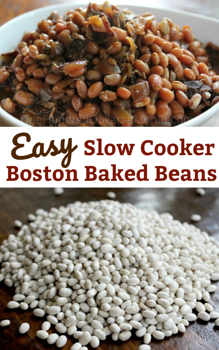 Easy Slow Cooker Recipes - Slow Cooked Boston Baked Beans ...