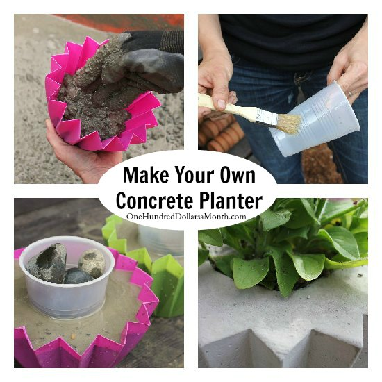 how to make a star shaped concrete planter