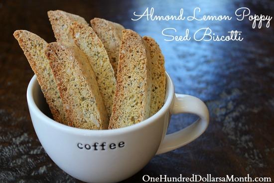 Almond Lemon Poppy Seed Biscotti