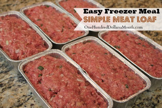 Easy Freezer Meal Simple Meat Loaf