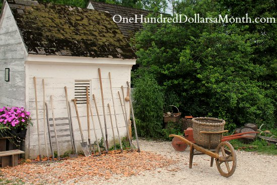Garden Sheds Virginia gardens in colonial williamsburg, va - one hundred dollars a month