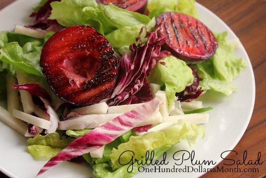 Grilled Plum Salad