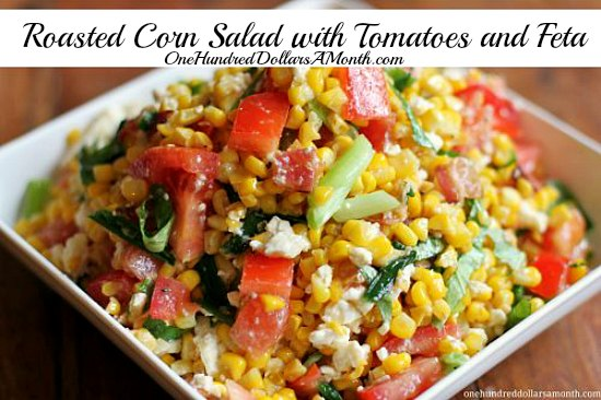 Roasted Corn Salad with Tomatoes and Feta