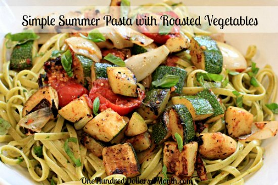 Simple-Summer-Pasta-with-Roasted-Vegetables