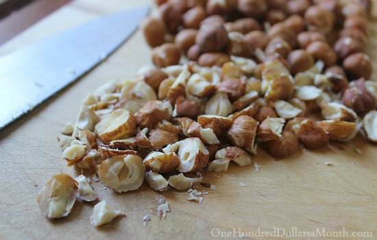 chopped hazelnuts