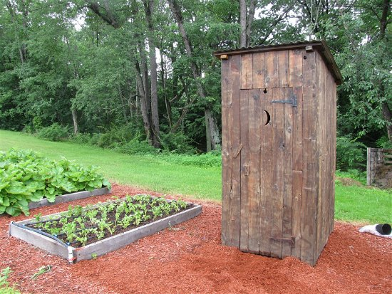 outhouse with star cut out