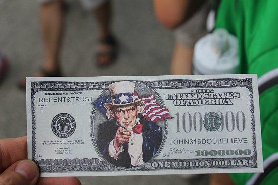 repent and trust million dollar bill