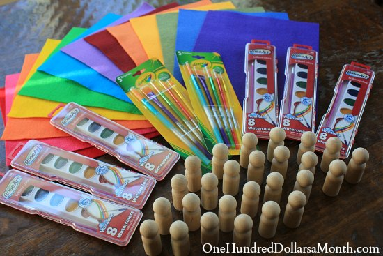 Crafts for Kids - Wooden Gnomes