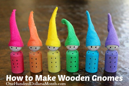 Easy Crafts For Kids Wooden Gnomes One Hundred Dollars A