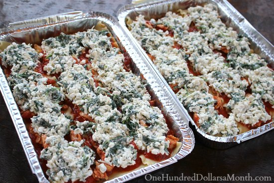 Freezer Meal - Chicken and Spinach Lasagna Recipe