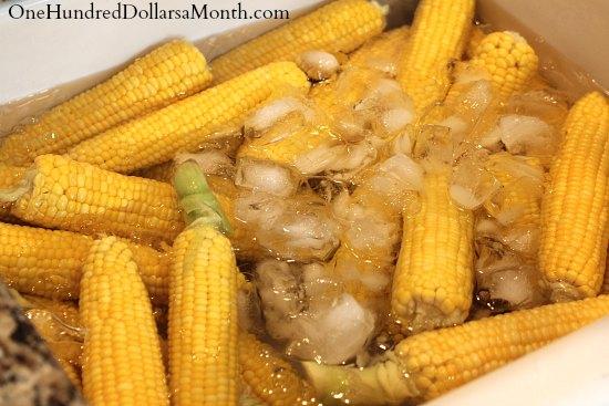How to Freeze Fresh Corn Ice Bath