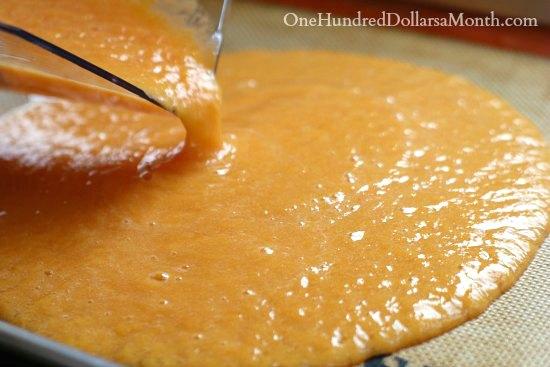 Peach Homemade Fruit Leather Recipe