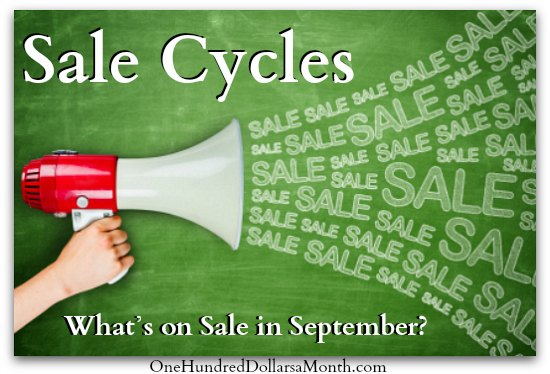 Sale Cycles What's on Sale in September