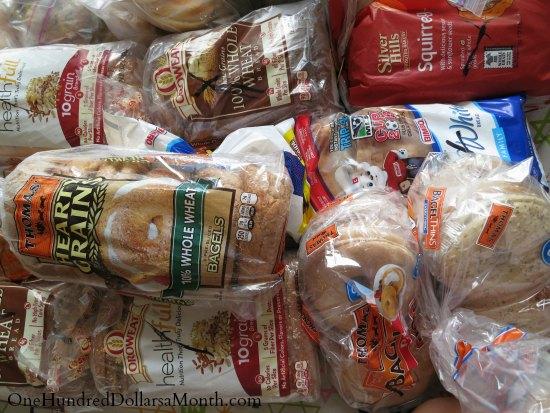 frozen bread