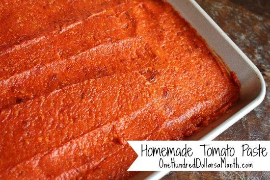 Homemade Tomato Paste Recipe
