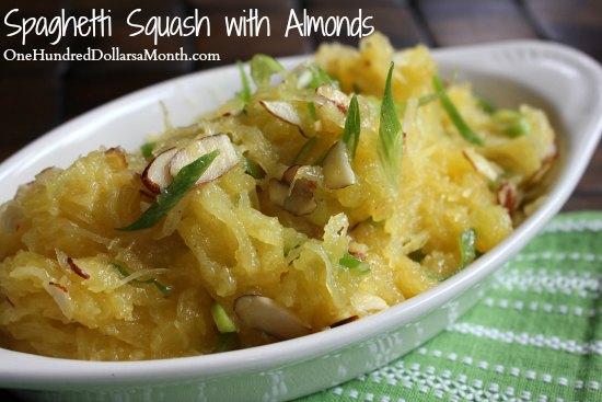 Spaghetti Squash with Almonds