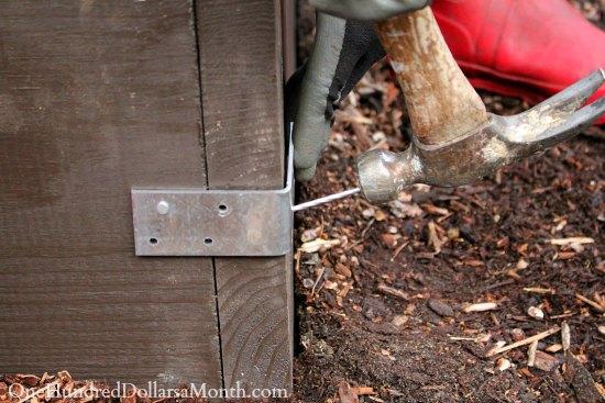 nail hammer garden box