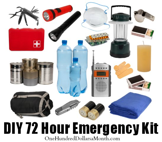 Diy 72 hour emergency kit one hundred dollars a month solutioingenieria Gallery