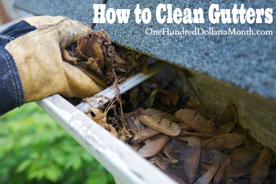 how to clean gutters youtube