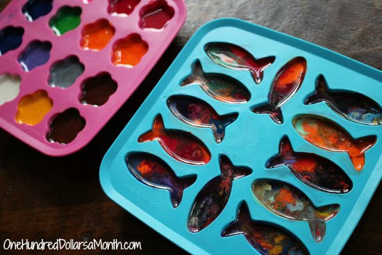 Rainbow Crayons, Recycled Crafts, How to Recycle Old Crayons into New Rainbow Crayons