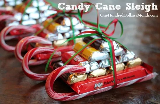 easy kids christmas candy crafts candy cane sleigh