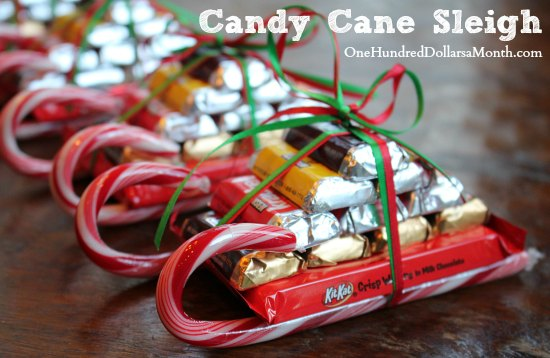 Image result for sleigh made from candy bars