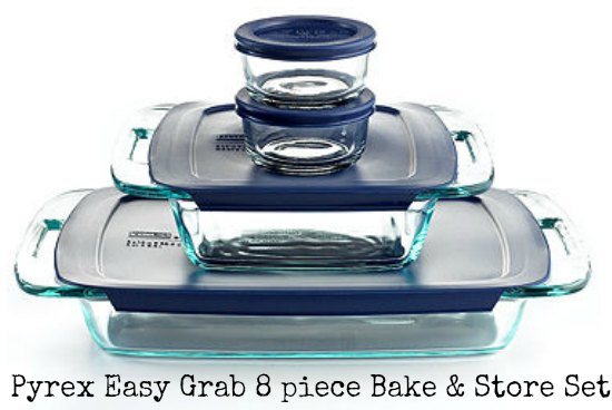 Pyrex Easy Grab 8 piece Bake and Store set