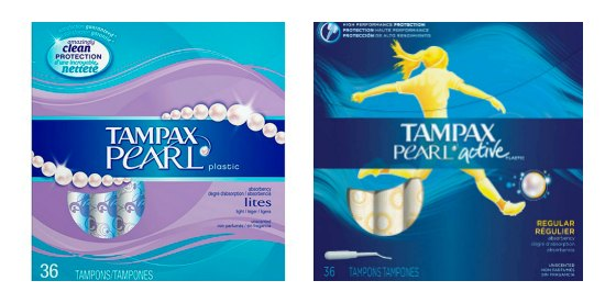 Tampax Pearl, Active, Radiant Tampons coupons