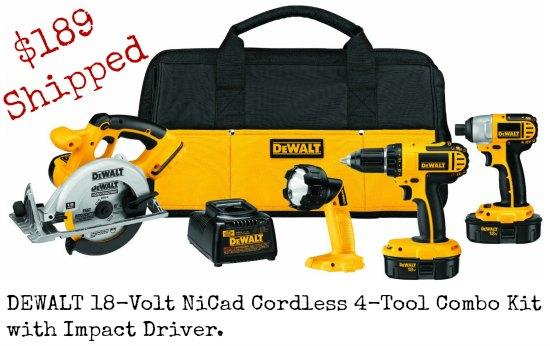 dewalt tool combo kit