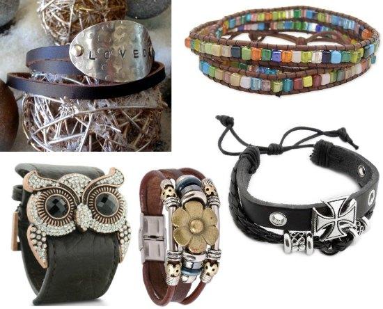 leather cuff bracelets