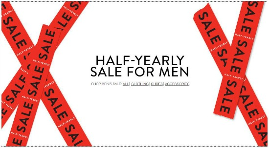nordstrom half yearly sale for men