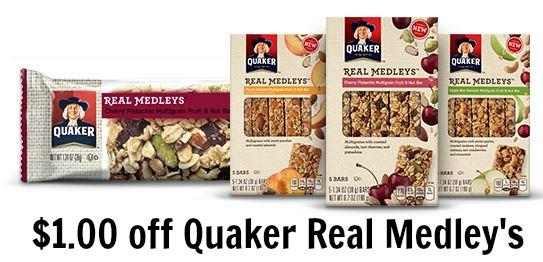 quaker medley's bars coupon