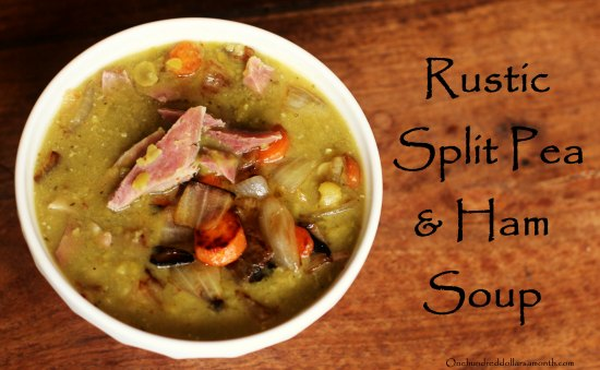 rustic split pea and ham soup
