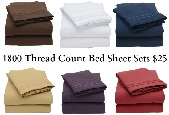 1800 Thread Count Bed Sheet Sets
