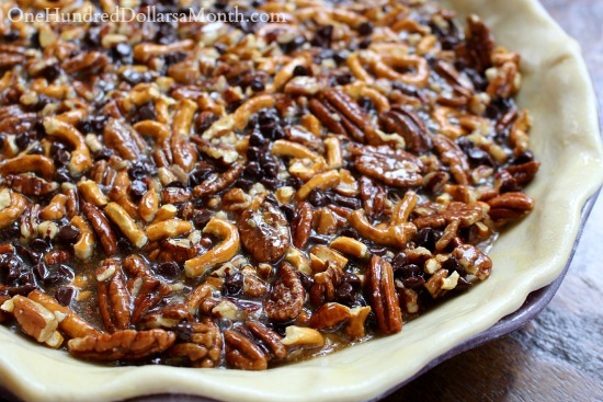 Chocolate Pretzel Pecan Pie recipe