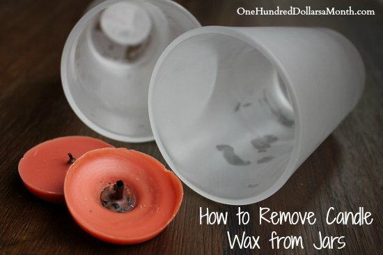 How to Remove Candle Wax from Jars