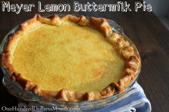 Meyer Lemon Buttermilk Pie Recipe
