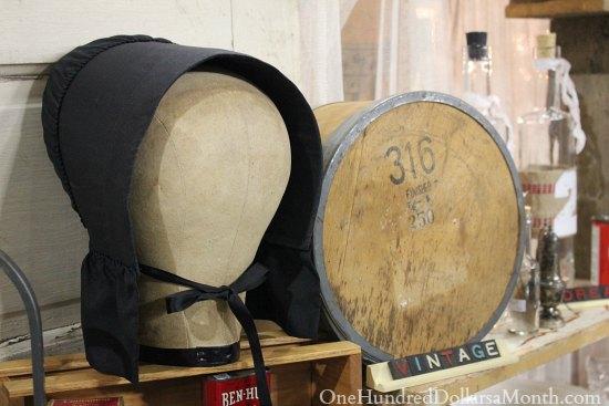 amish black bonnet