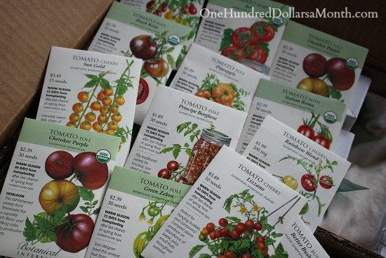 botanical interests heirloom tomato seeds