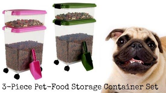 pet food storage set