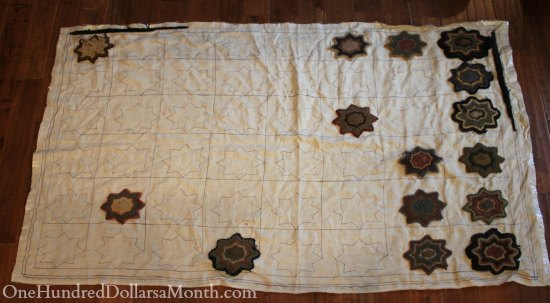 primitive hooked rug