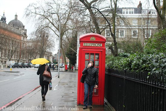 mavis red phone booth london
