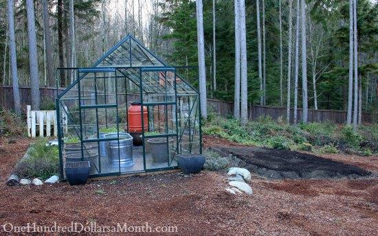 winter greenhouse garden