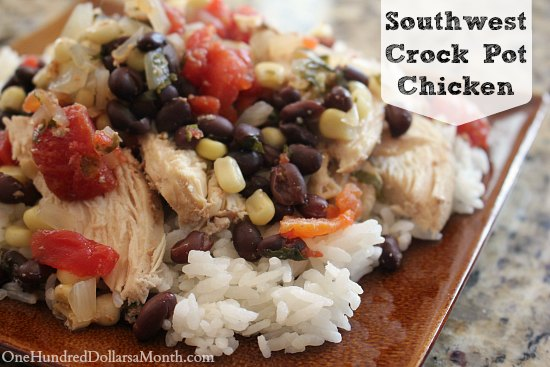 Southwest Crock Pot Chicken