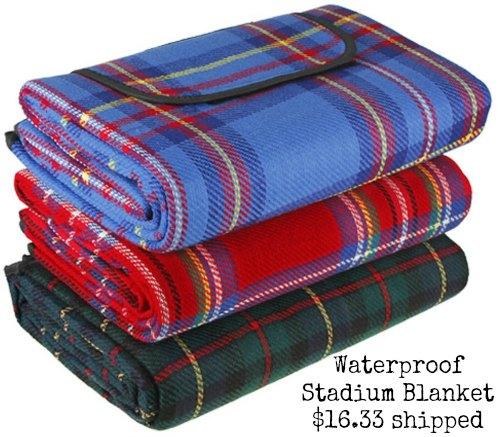 waterproof stadium blanket