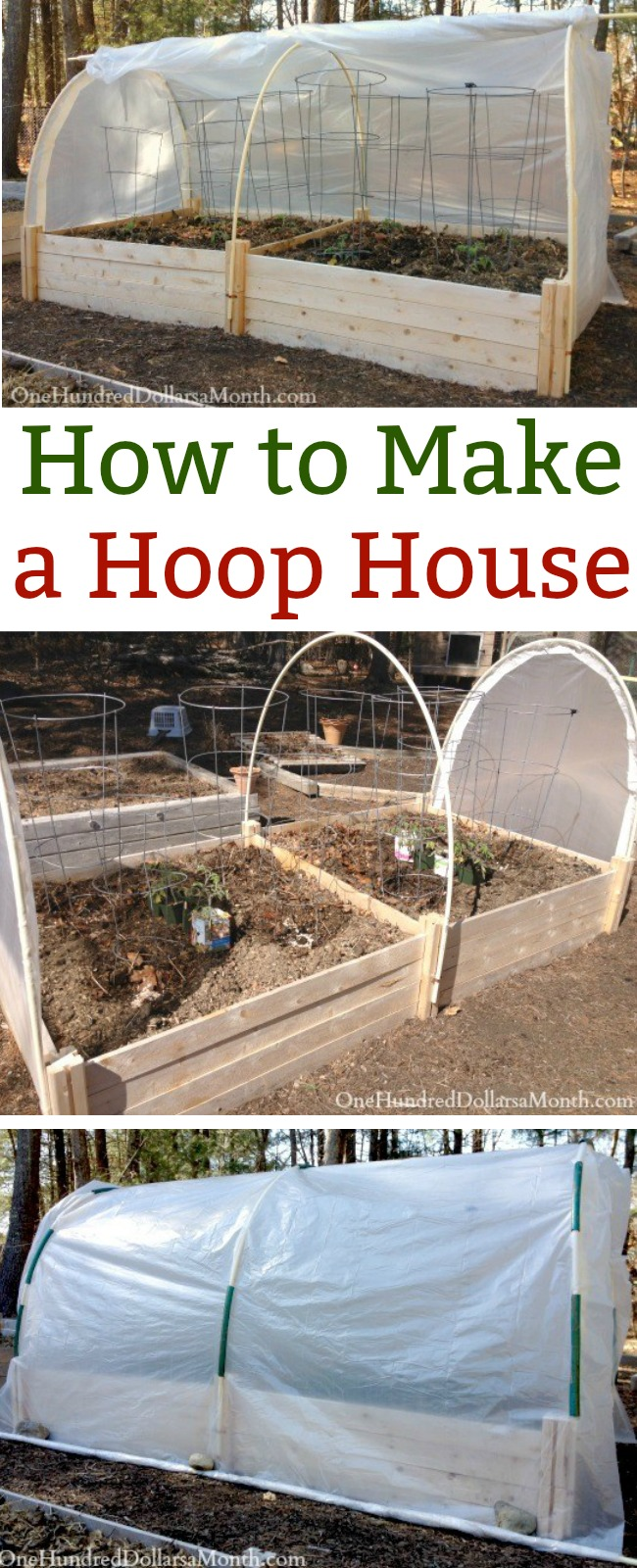 How To Make A Hoop House Picture Tutorial One Hundred