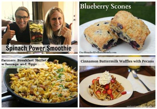 weekly menu plans breakfast