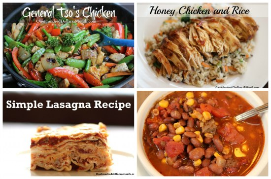 weekly menu plans main dish